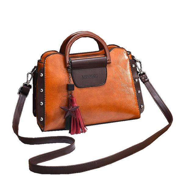 2019 New Fashion Women Handbags Luxury Ladies PU Leather Shoulder Bag Vintage Tassel Messenger Bag for Female Bolsa Feminina