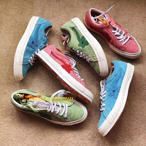 2019 canvas designer shoe one star Taylor creator golf lok hibiscus jade grayish green casual shoes