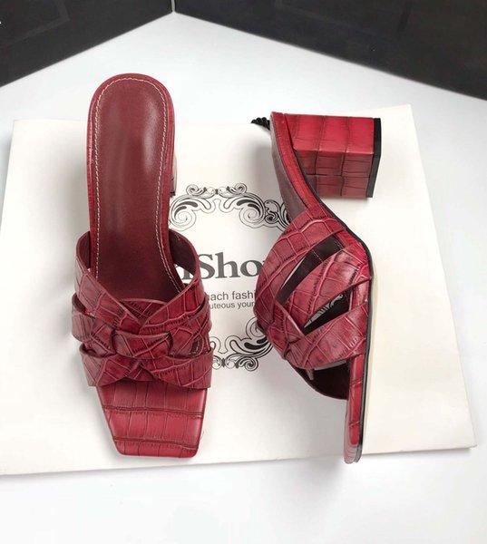 Kırmızı 6.5cm topuklar