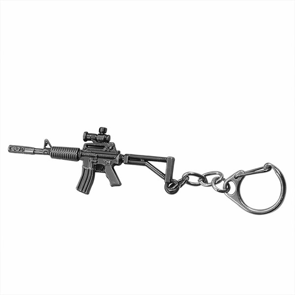 Punk 3D Imitation Gun Keychain Cool Men MP5 Submachine Firearm Key Chain Ring Unisex Metal Jewelry Llaveros