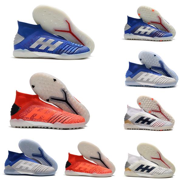 Chuteiras de futebol mais recentes Predator 19 Em Ic Indoor Soccer Shoes à prova d 'água Predator 19 Tf Football Boots Men Shoes