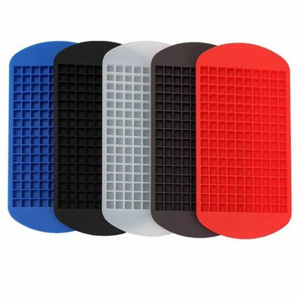 160 сетки кубики льда чайник мини силиконовые формы кубика льда плесень лоток пудинг инструмент кухонные принадлежности 6 цветов выбрать 24*12 см