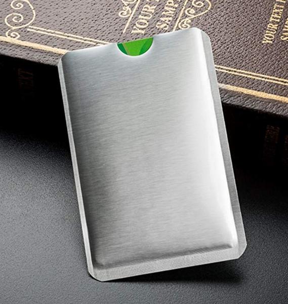 Алюминиевая фольга Безопасность RFID-карты Рукава Кредитная карта RFID-защита Противоугонные защитные рукава Водонепроницаемый безопасности NFC Card Protector