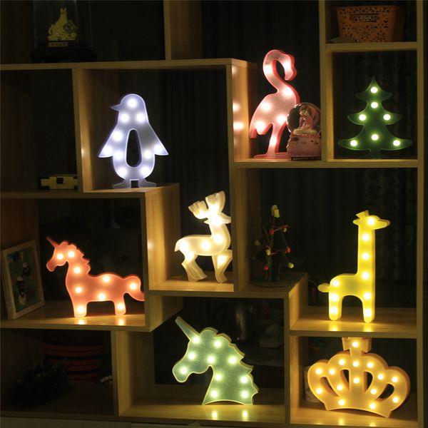 New Cartoon Love Heart Christmas tree Shape Table lamp Changing Battery Desk Lamp 3D Lamp Novelty Night Light Kid Christmas Gift Toys