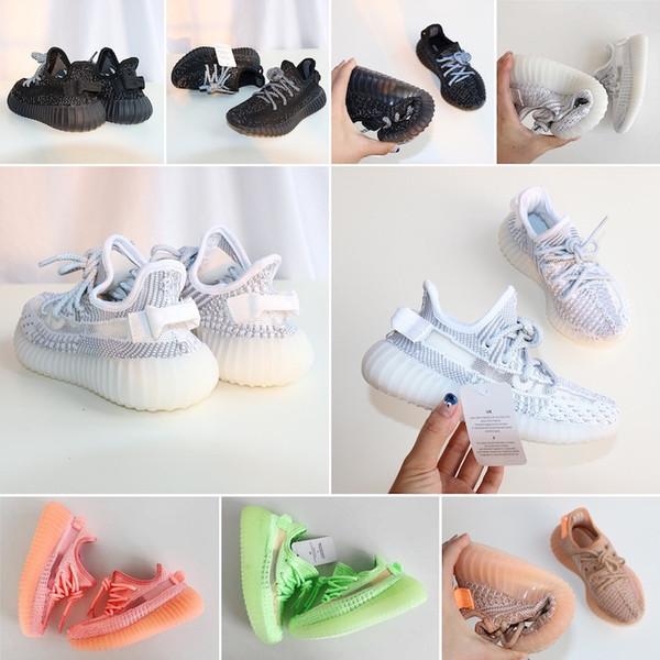 Adidas Yeezy 350 V2 Designer de Sapatas Dos Miúdos Das Crianças Do Bebê Da Criança Correr Sapatos Esporte Tênis de Corrida Respirável Para Meninos Meninas de alta qualidade Sneaker