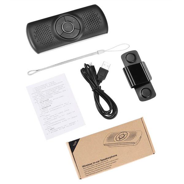 Freisprecheinrichtung Bluetooth Car Kit MP3 Player Bluetooth 4.2 EDR SIRI 3W Lautsprecher Auto Bluetooth Freisprecheinrichtung Unterstützung TF verbinden 2 Telefone T826