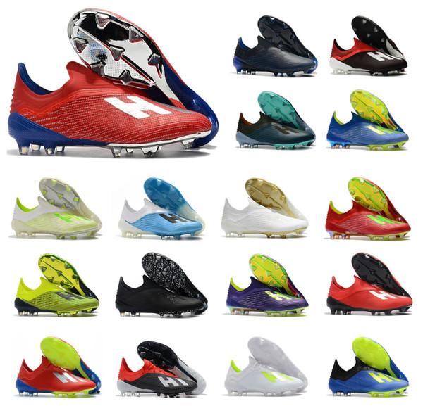 Hot X 18+ 18.1 FG Fußball Herren Fußball Salah Jesus Schuhe 18 + x Fußball Stiefel Fußballschuh Größe US6.5-11