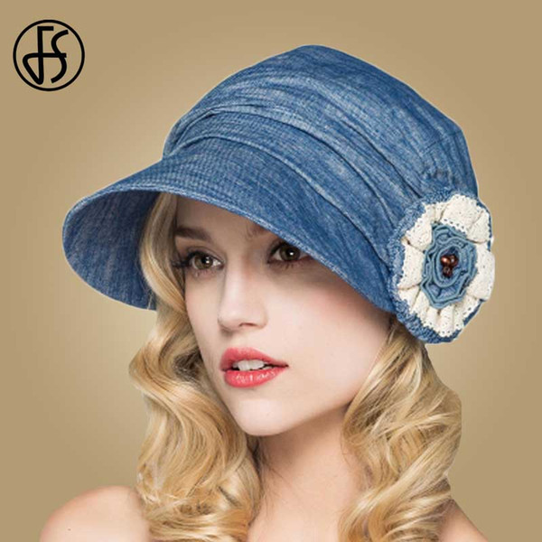 wholesale Fashion Summer Cotton Sun Hats Casual Flower Beach Hat Wide Brim Floppy Sun Visors Cap For Women Adjustable Chapeu Feminino