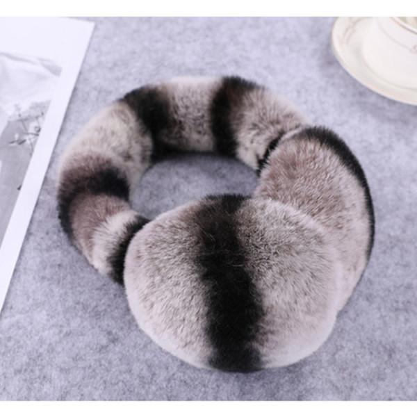 100% naturel Rex fourrure Earmuffs Femmes Mode Hommes chaud Russie hiver Fourrure véritable Earmuffs enfants oreille couverture earlap fille