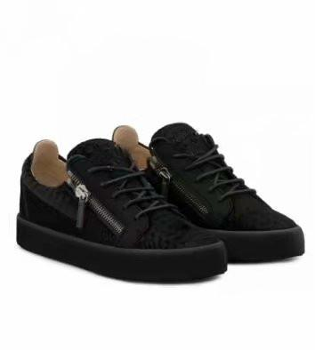 High quality free shipping black crocodile grain leather for men's and women's shoes,high-level fashion sneakers chaoliu my889606