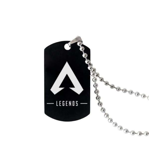 Apex Legends Anhänger Halskette Schwarz Edelstahl Hot FPS Spiel Fans Souvenirs Geschenk Punk Stil Männer Frauen Halsketten Hot Modeschmuck