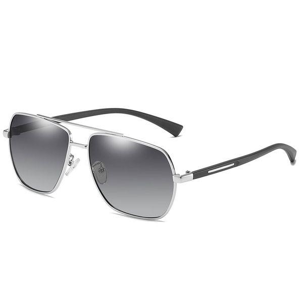 Silver frame progressive gray