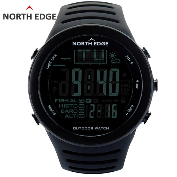North Edge Fishing Altimeter Barometer Thermometer Altitude Men Smart Digital Watches Sports Climbing Hiking Clock Montre Homme MX190716