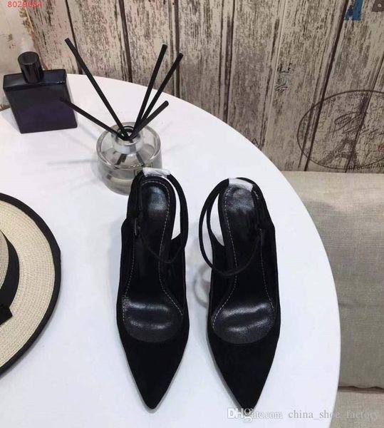 Новые женские босоножки ранней весной Все импортные кожаные простые гламурные женские повседневные деловые босоножки на высоком каблуке