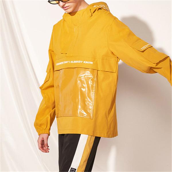 Mens Womens Streetwear Designer Marca capuz Windbreakers Carta Imprimir Moda Big bolso do casaco Casacos Casacos Top Quality Inverno B101778V