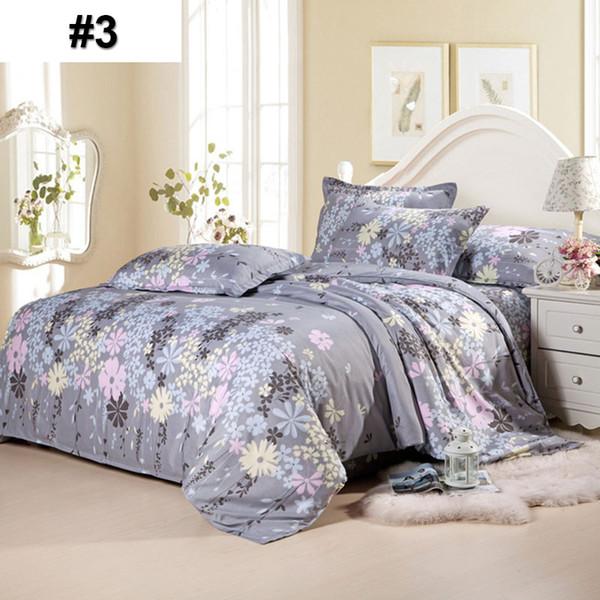 Conjuntos de ropa de cama de lujo Funda Nórdica 4 unids Rey Algodón Poliéster Sábana Funda de Almohada Home Hotel Regalo