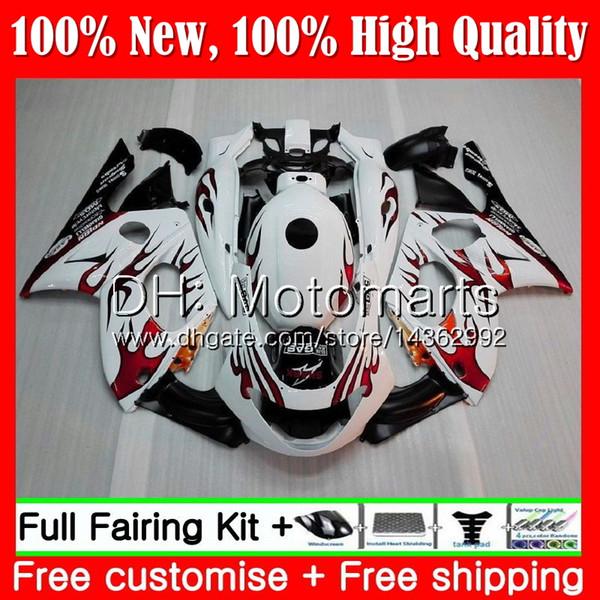 Red Flames Body für YAMAHA YZF600R Thundercat 96 97 98 99 00 01 86MT12 YZF-600R YZF 600R 1996 1997 1998 1999 2000 2001 Verkleidung Karosserie