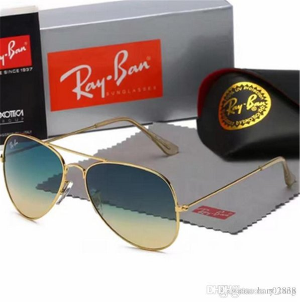 2019 Yüksek Kalite Erkekler Kadınlar Tasarımcı Pilot Güneş Gözlüğü Güneş Gözlükleri Altın Flaş Pembe Ayna Cam Lensler 58mm 62mm UV400 Koruma Kutuları Durumda