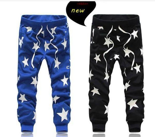 2014 NUEVOS hombres impresos caen la entrepierna harem pantalones delgados deportivos holgados pantalones para hombre pantalones de bandana hip hop al aire libre