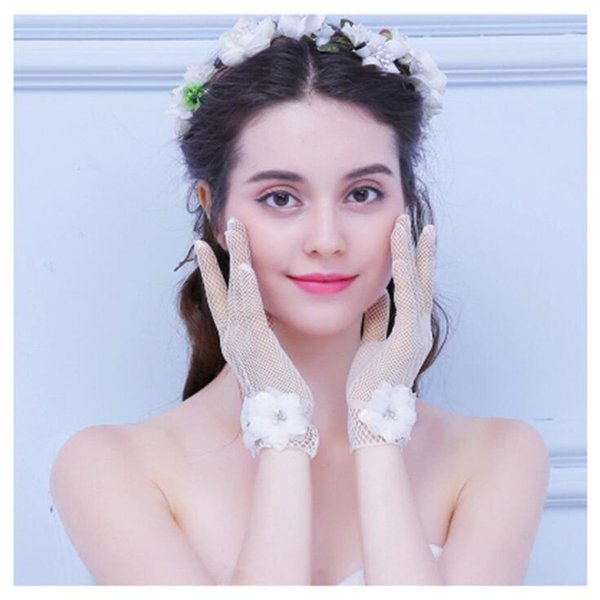 Trendy Wedding Bride Glove Lace Bow Knot Ornament Female Hand Veils Lovely Charm Retro And Modern Bridal Wedding Gloves