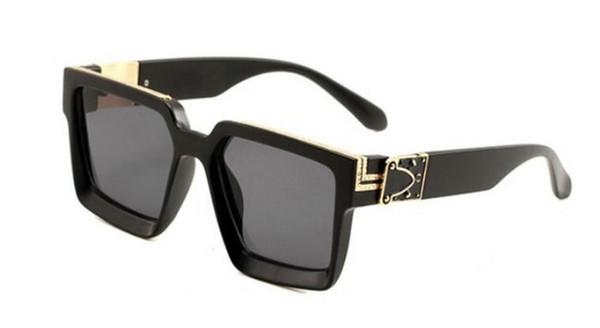 Gafas de sol polarizadas UV400 ProMen de alta calidad gafas de sol para mujer marco cuadrado marco completo estructura superior marco de moda espejo plateado