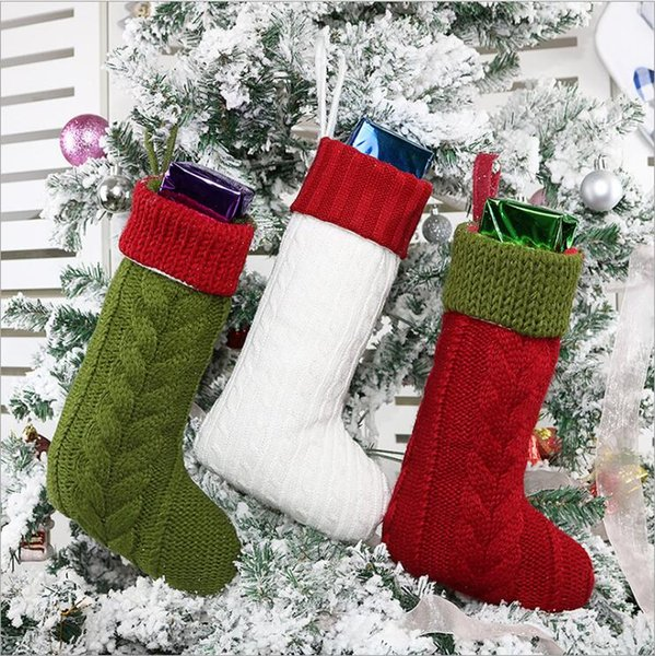 Christmas Stockings 13 Inches Large Size Cable Knit Knitted Xmas Stockings  Rustic Personalized Stocking Decorations For Family Holiday Decor Christmas
