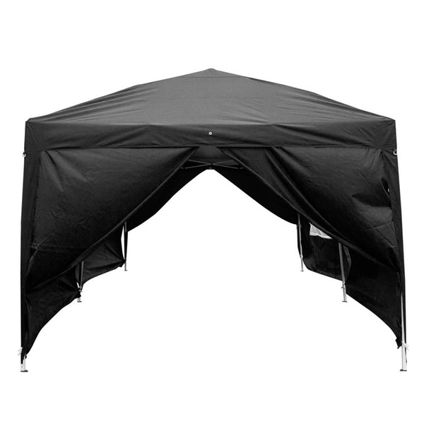 3 x 6m Four Windows Practical Waterproof Folding Tent for Outdoors Camping Parking Shed,AD Black