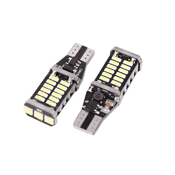 2pcs Canbus Error Free T15 W16W 30 4014-SMD-LED White Car Interior Light Bulbs Wedge Door Dashboard Panel Auto Lamp 921 922 939