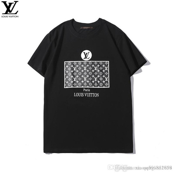 2019 hot sale men and women models summer fashion letter pattern print personality breathable sweat-absorbent sports short-sleeved T-shirt