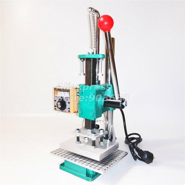 Manual Hot Stamping Máquina vincando Printer Máquina de couro Marcação cunho Ferro Stamping 10x13