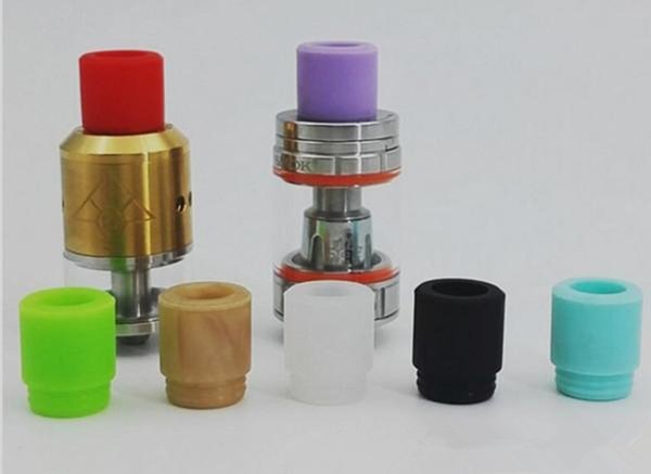 ecig vape TFV8 Silicone Mouthpiece TFV12 Cover Silicon Drip Tip Disposable Colorful Rubber Test Dip Tips Fit TFV8 Big Baby cheap