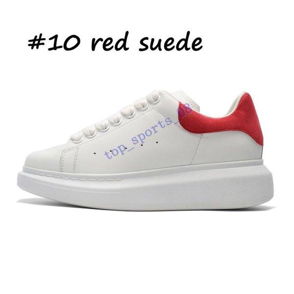 10 أحمر من جلد الغزال