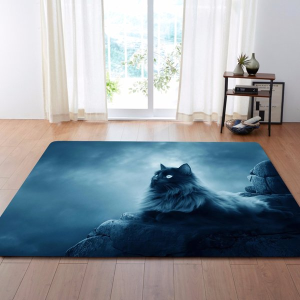 Nordic Large 3D Carpets Lovely Cats Rug Bedroom Kids Room Play Mat Memory  Foam Area Rugs Carpet For Living Room Home Decorative Discount Commercial  ...