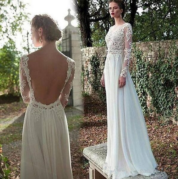 Discount Vintage Inspired Hippie Maxi Lace Bohemian Long Sleeve Wedding  Dresses Plus Size Crochet Backless Beach Boho Cheap Wedding Gowns 322 Cheap  ...