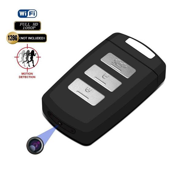 HD 4K Wifi llave de coche Cámara Full HD 1080p H2.64 llavero de coche mini grabadora de video soporte de cámara de detección de movimiento seguridad para el hogar videocámara
