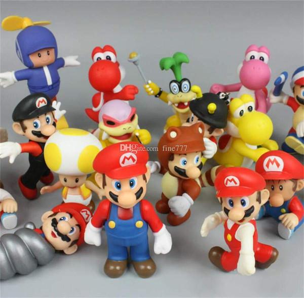 4.3 Pouces Original Super Mario Bros 20 Modèles Aléatoire Mix Figurines Super Mario Poupée Jouets lol