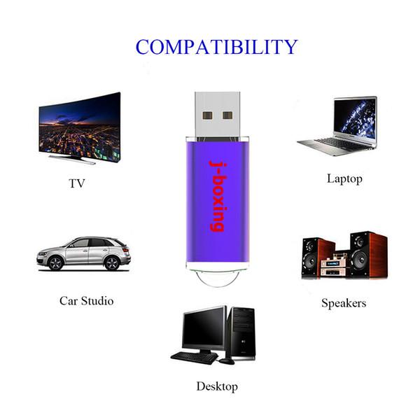 NEW 1GB 8GB 16GB 32GB Rectangle USB Flash Drives Purple High Quality Thumb Pen Drive Flash Memory Stick for Computer Laptop Macbook 20PCS
