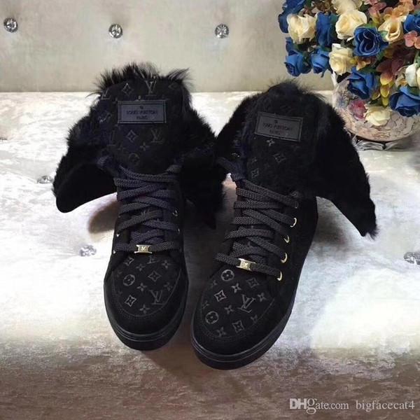 L-62 delle donne di inverno Stivaletti in pelle di vitello, Frontrow Sneaker stivale piatto CREEPER LINE Martin Booties basket Size 35-41 con la scatola
