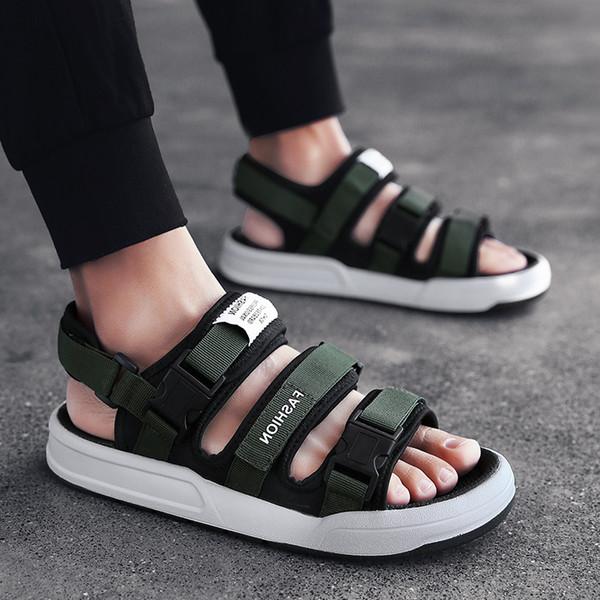 BVNOBET Sandálias Street Style Novos Homens Sapatos de Verão Plus Size Homens Qualidade Preta Sandálias de Praia Masculina Sandales Hommes Dropshipping