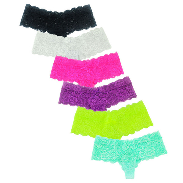 Hot Sexy Spitzenhöschen Boyshorts Unterwäsche Frauen Shorts G String Bikini Tanga Mini Dessous Slip Tanga Bragas Knickers Xl Xxl C19041601
