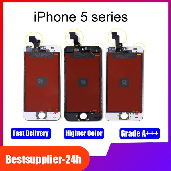 For iPhone 5C LCD Screen Display Touch Screen Replacement Digitizer Ecran Pantalla LCD Assembly Free DHL Shipping