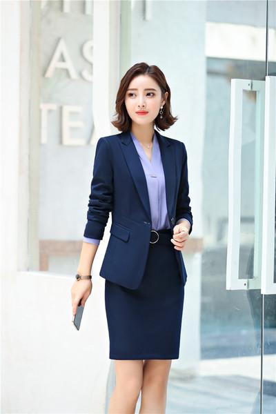Blue skirt suite