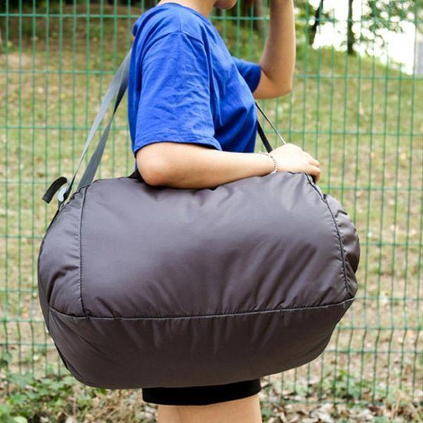 9e2d6129b1df Складная дорожная сумка для путешествий Сумка на открытом воздухе Сумки для  путешествий на одно плечо Фитнес-органайзер для хранения Большая сумка для  ...