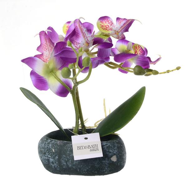 Planta decorativa Jardim Presente Orquídea Borboleta Simulação Bonsai Enfeites de Casamento Em Vasos Artificiais Com Pote Desktop Em Casa