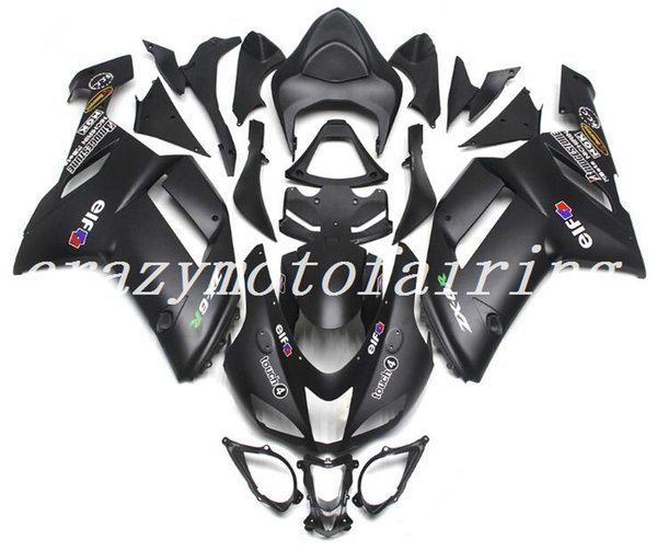 3Gifts New ABS motorcycle plastic fairings fit for kawasaki Ninja ZX6R 636 2007 2008 ZX-6R 07 08 fairing bodywork set custom Matte black