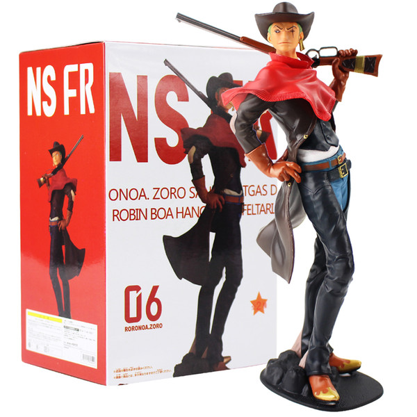 22cm 2 style One Piece Luffy's The straw hat Pirates Roronoa Zoro Cowboy with gun Figurine PVC Model Collection Figure Toys Gift
