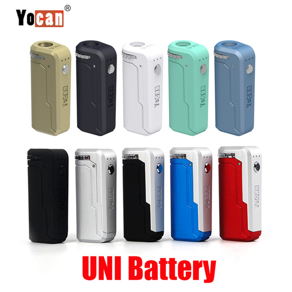 Original Yocan UNI Box Mod 650mAh Preheat VV Battery 10 Colors For 510 Thick Oil Vape Preheating Cartridge Ecig Mods 100% Authentic