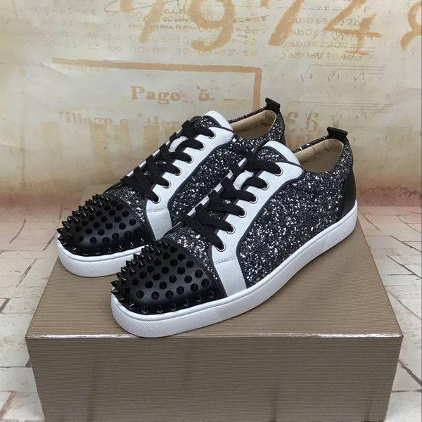 Elegant red bottom sneaker shoes for men,women luxury fashion casual high quality walking CLshoes Outdoor Trainers