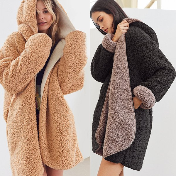 2019 Autumn and Winter Jacket Women New Lamb Hair Double-sided Lazy Coat Women Autumn and Winter Warm Cotton Jacket