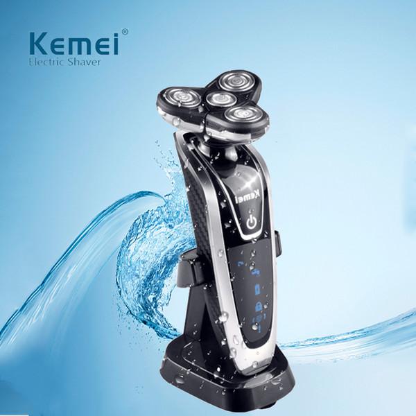 Rasatrice per barba da barba Kemei rasoio elettrico ricaricabile multifunzione 4 in 1 rasoio da uomo 7in1 comodo e sicuro 3